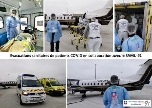 Evacuations sanitaires de patients COVID